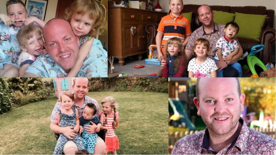 Историята на един супер баща: да осиновиш 4 деца и да се грижиш за тях сам, без жена до себе си